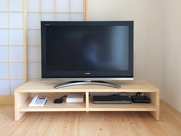 ヒノキクラフトのテレビ台
