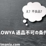 LOWYAの返品できない条件