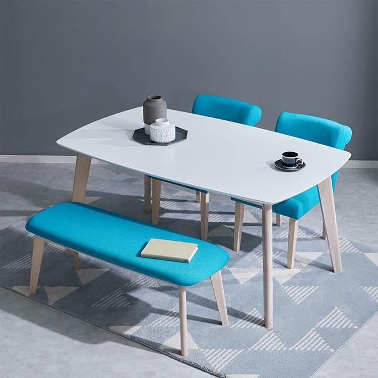 ダイニングテーブルセット(グレー/ブルー/ブラウン) 4人掛け(4点/5点) 選べる2タイプ(ベンチ/チェア)