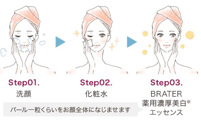 Brater(ブレイター)美容液の使い方