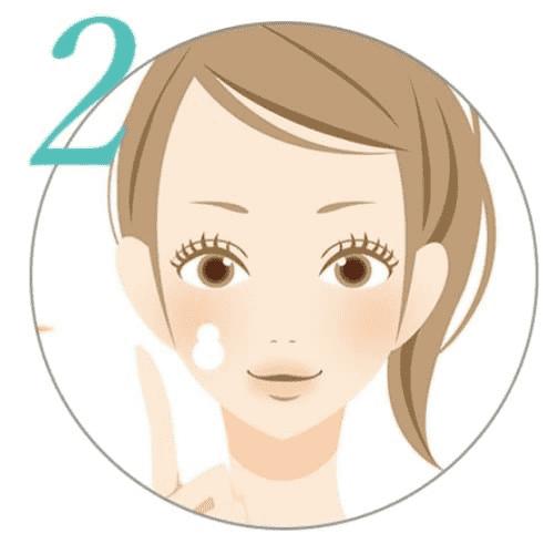 ミナル薬用アクネジェルのポイントケア方法(気になる部分だけ)