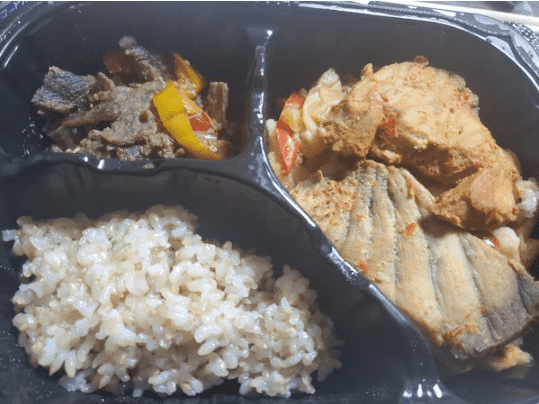 マッスルデリ白身魚のピリ辛ソテーセット