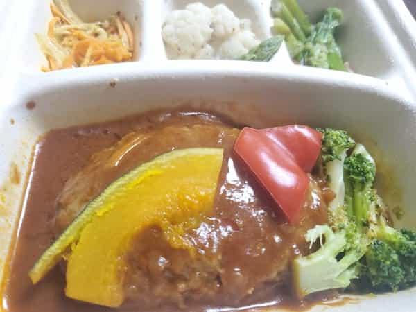 nosh(ナッシュ)ハンバーグと温野菜のデミ